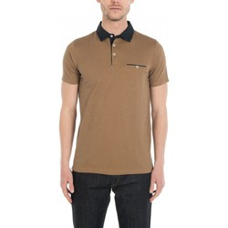 Vêtements Homme T-shirts & Polos Jerem Polo maille fantaisie bicolore Corail CO43