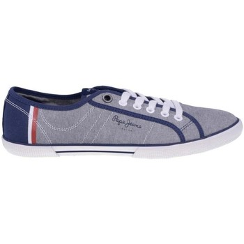 Chaussures Pepe jeans pepe jeans aberman court zapatillas azul denim