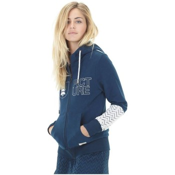 Vêtements Femme Sweats Picture Organic Clothing Basement Zip bleu marine
