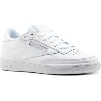 Chaussures Femme Baskets basses Reebok Classic Reebok Club C 85 Trim Leather Blanc / Gris