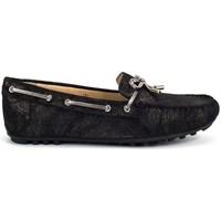 Geox D ROMA E  BLACK Noir - Livraison Gratuite avec  - Chaussures Chaussures bateau Femme