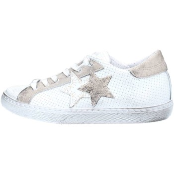 Chaussures Femme Baskets basses 2 Stars 2S1830 Basket Femme White / Taupe White / Taupe