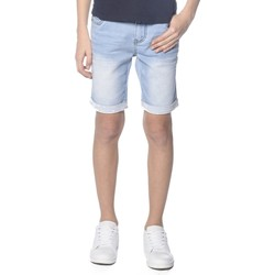 Vêtements Garçon Shorts / Bermudas Deeluxe Short en jean Bart bleach