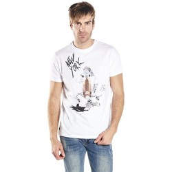 Vêtements Homme T-shirts manches courtes Deeluxe T-shirt Riding blanc