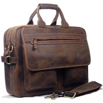 Sacs Femme Sacs Bandoulière Ego Vanity Shoes Vintage Crazy Horse Véritable Porte-Documents En Cuir hommes Sac brown