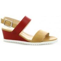 Chaussures Femme Sandales et Nu-pieds Pao Nu pieds cuir Camel