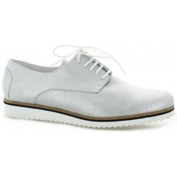 Chaussures Femme Derbies Elizabeth Stuart Derby cuir laminé Blanc