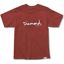 Vêtements Homme T-shirts manches courtes Diamond Supply CAMISETA  SHORT SLEEVE Marron