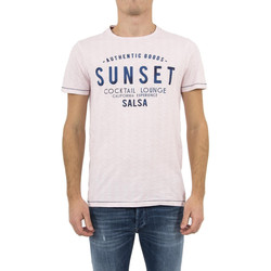 Vêtements Homme T-shirts manches courtes Salsa tee shirt  119657 palm beach rose rose