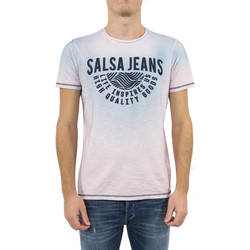 Vêtements Homme T-shirts manches courtes Salsa tee shirt  119673 palm beach rose rose