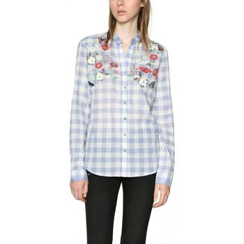 Vêtements Femme Chemises / Chemisiers Desigual Chemisier Cabaceira Celeste Bleu 18SWCW65 19