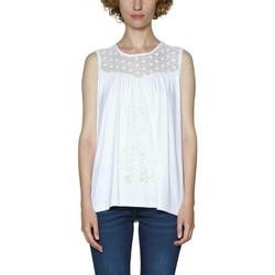 Vêtements Femme Débardeurs / T-shirts sans manche Desigual T Shirt Garance Blanc 18SWTKB2