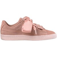 Chaussures Femme Baskets basses Puma Suede Heart Pebble Rosa Zapatilla Mujer Rose