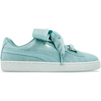 Chaussures Femme Baskets basses Puma Suede Heart Pebble Turquesa Zapatilla Mujer Turquoise