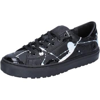 Chaussures Femme Baskets basses Date D.A.T.E. sneakers noir cuir cuir verni AB561 noir