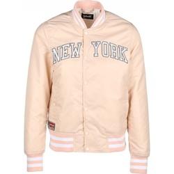 Vêtements Femme Blousons Schott Blouson Starter   Brode New York  Blush Rose Clair Rose