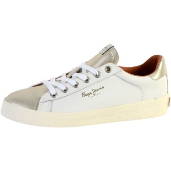 Chaussures Femme Baskets basses Pepe jeans Basket  Portobello W Blanc