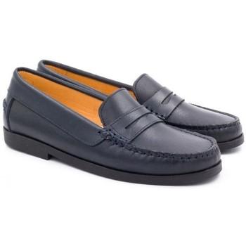 Chaussures Enfant Mocassins Boni Classic Shoes Mocassins en cuir - HORACE Bleu Marine