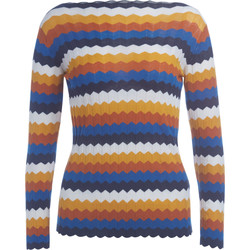 Vêtements Femme Pulls Roberto Collina Pull  en coton multicolore Multicolor