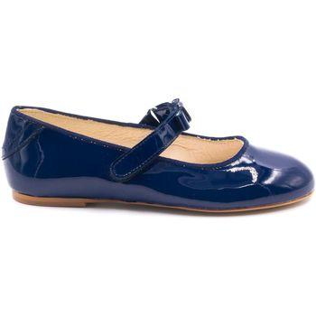 Chaussures Fille Ballerines / babies Boni Classic Shoes Ballerines vernies cérémonie - CLARA Bleu Marine