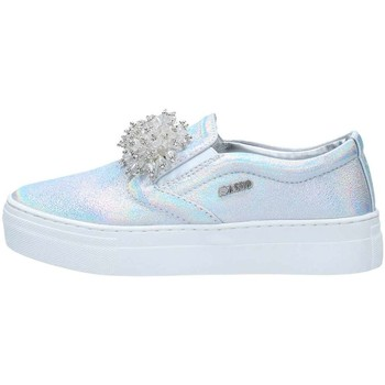 Chaussures Fille Slips on Asso 63407 Ballerines et Mocassins Fille Silver Silver