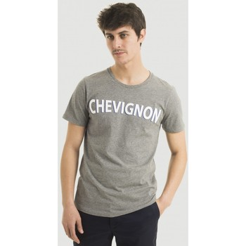Vêtements Homme T-shirts manches courtes Chevignon Tee shirt MC straight logo GRIS CHINE CLAI