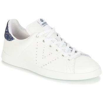 Chaussures Fille Baskets basses Victoria DEPORTIVO BASKET PIEL Blanc / Bleu
