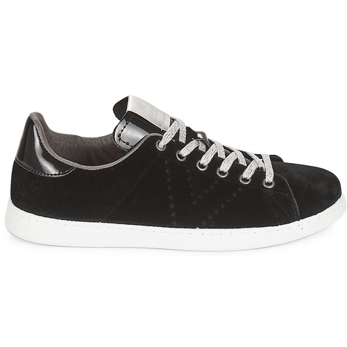 Femme Deportivo Baskets Basses Victoria Noir Terciopelo ChdrQts