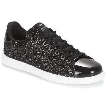 Chaussures Femme Baskets basses Victoria HUELLAS METAL Noir