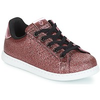 Chaussures Fille Baskets basses Victoria DEPORTIVO METAL CREMALLERA Rose