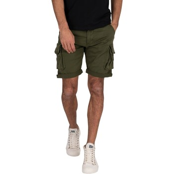 Vêtements Homme Shorts / Bermudas Alpha Industries Homme Short de cargo, Vert vert