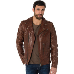 Vêtements Homme Vestes en cuir / synthétiques Daytona 73 REDFORD COW PULL UP BRANDY Marron