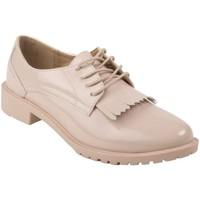 Chaussures Femme Derbies Primtex Derbies  vernis à franges semelle intérieure cuir Beige
