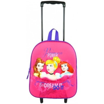 Sacs Fille Sacs / Cartables à roulettes Disney SAC A DOS A ROULETTES 31CM ROSE-PRINCESS ROSE