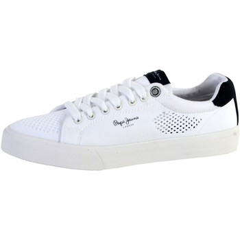 Chaussures Homme Baskets basses Pepe jeans Basket  Nate Summer Blanc