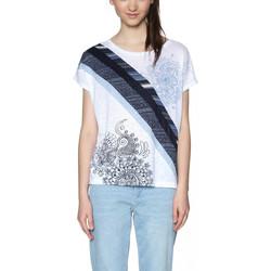 Vêtements Femme T-shirts & Polos Desigual T Shirt Bernice Blanc 18SWTKEC 1