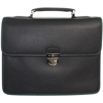 Sacs Porte-Documents / Serviettes David William Serviette  en cuir ref_lhc42528-noir Noir
