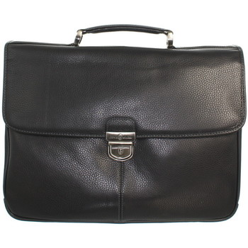 Sacs Porte-Documents / Serviettes David William Serviette  en cuir ref_lhc42530-noir Noir