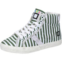 Chaussures Fille Baskets mode Date D.A.T.E. sneakers blanc textile vert AB614 vert