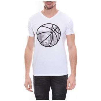 Vêtements Homme T-shirts & Polos Ritchie T-shirt col V en coton NADOT Blanc