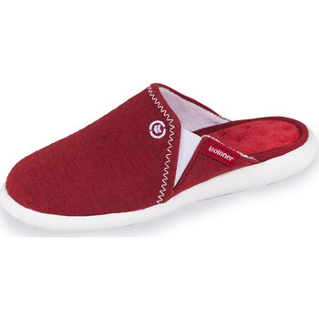 Chaussures Femme Chaussons Isotoner Chaussons mules femme ultra légers rouge