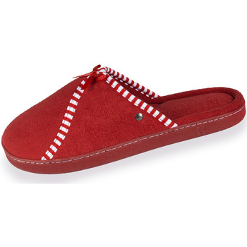 Chaussures Femme Chaussons Isotoner Chaussons mules femme classiques rouge