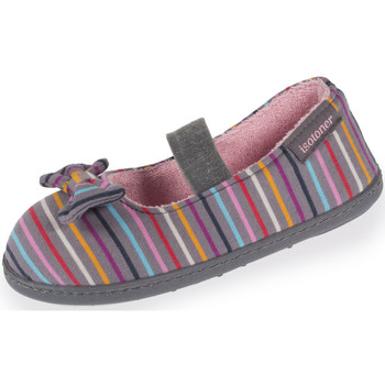 Chaussures Fille Chaussons Isotoner Chaussons ballerines fille étoiles et rayures multicolor