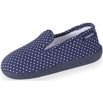 Chaussures Fille Chaussons Isotoner Chaussons charentaises fille pois pois