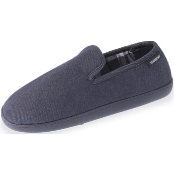 Chaussures Homme Chaussons Isotoner Chaussons charentaises homme classiques bleu