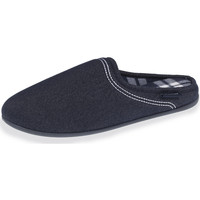 Chaussures Homme Chaussons Isotoner Chaussons mules homme effet denim bleu