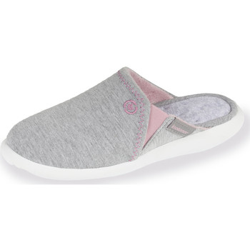 Chaussures Femme Chaussons Isotoner Chaussons mules femme ultra légers gris