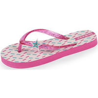 Chaussures Fille Tongs Isotoner Tongs enfant étoiles rose