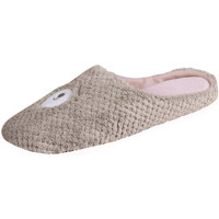 Chaussures Femme Chaussons Isotoner Chaussons mules femme animal beige