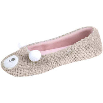 Chaussures Femme Chaussons Isotoner Chaussons ballerines femme animal beige